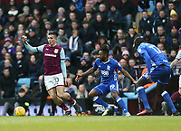 Jack Grealish of Aston Villa wins the ball against Jacques Maghoma of Birmingham City<br /> <br /> Photographer Leila Coker/CameraSport<br /> <br /> The EFL Sky Bet Championship - Aston Villa v Birmingham City - Sunday 11th February 2018 - Villa Park - Birmingham<br /> <br /> World Copyright &copy; 2018 CameraSport. All rights reserved. 43 Linden Ave. Countesthorpe. Leicester. England. LE8 5PG - Tel: +44 (0) 116 277 4147 - admin@camerasport.com - www.camerasport.com