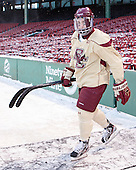 Teddy Doherty (BC - 4) -  - The participating teams in Hockey East's first doubleheader during Frozen Fenway practiced on January 3, 2014 at Fenway Park in Boston, Massachusetts.