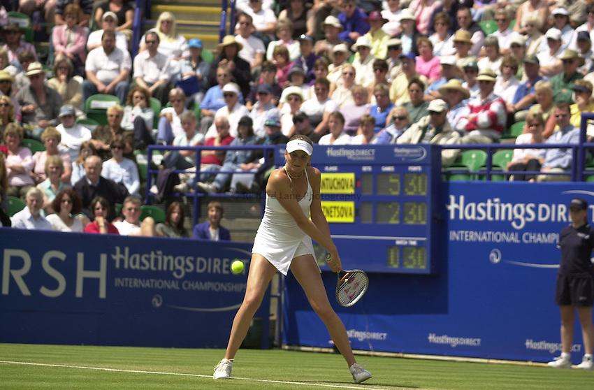 Photo:Alan Crowhurst..Hastings Direct International Championship Final at Eastbourne.19/06/2004..Daniela Hantuchova.