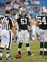 TIM KNICKY, of the New York Jets in action during the Jets game against the Carolina Panthers  at Bank of America Stadium in Charlotte, N.C.  on August 21, 2010.  The Jets beat the Panthters 9-3 in the second week of preseason games...