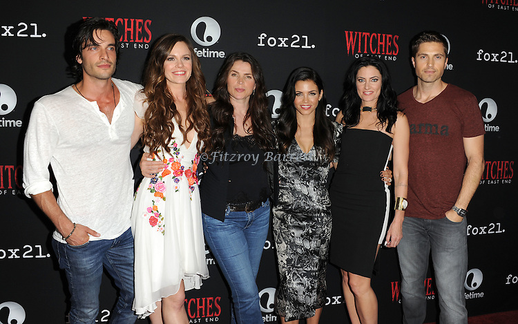 Daniel di Tomasso, Julia Ormond, Jenna Dewan-Tatum, Rachel Boston, Madchen Amick and Eric Winter arriving at the Witches of East End Comic-Con Party 2014 held at The Tipsy Crow in San Diego, Ca. July 24, 2014.
