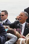 President Barack Obama Arrives in New York