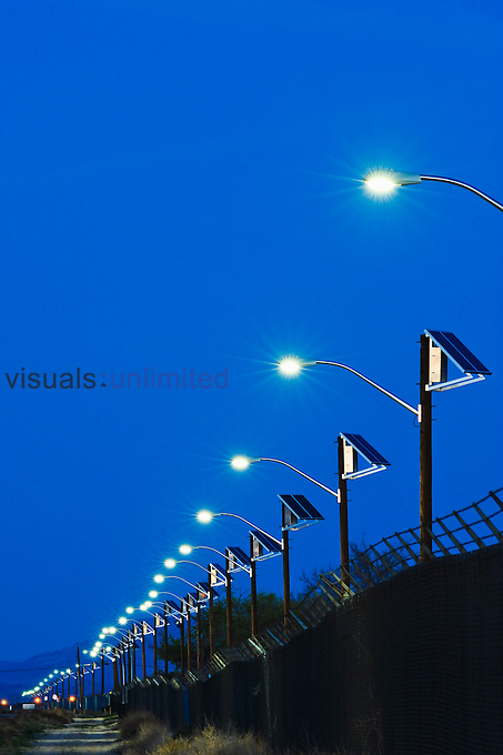 Solar Powered street lamp.