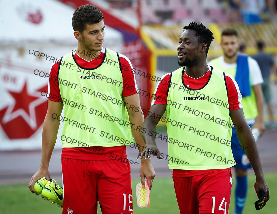 Fudbal Super League Season 2017-2018<br /> Crvena Zvezda v Radnicki Nis<br /> Srdjan Babic (L) and Richmond Boakye<br /> Beograd, 23.07.2017.<br /> foto: Srdjan Stevanovic/Starsportphoto &copy;