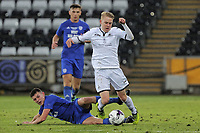 Pictured: Oliver Cooper of Swansea (R). Tuesday 01 May 2018<br /> Re: Swansea U19 v Cardiff U19 FAW Youth Cup Final at the Liberty Stadium, Swansea, Wales, UK