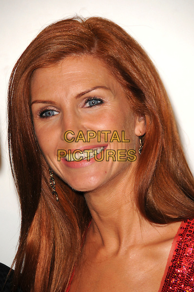 YVONNE KEATING .Arrivals - The Emerald & Ivy Ball, Batersea Evolution, London, England, .November 21st 2008..portrait headshot smiling red hair .CAP/CAS.©Bob Cass/Capital Pictures