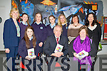 BOOK: The minister of education Jimmy Denihan TD who met up with the students of Presentation School on Friday evening at the Eduaction Centre on the ITT grounds  as they presented the minister with their new book  Yes Now I Get It helping teenagers with Autism Front l-r:Siobhan Kelly, Jimmy Denihan (minister of Education) and Nuala Ní Dhomhnaill (poet writer). Back l-r: Eileen Kennelly, Rebecca Lyons,Nora Murphy, Lucia Baily,Ellen Horan Caitríona Ní Chullota and, Lis Cosgrave.