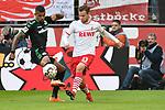 01.12.2018, RheinEnergieStadion, Koeln, GER, 2. FBL, 1.FC Koeln vs. SpVgg Greuther Fürth,<br />  <br /> DFL regulations prohibit any use of photographs as image sequences and/or quasi-video<br /> <br /> im Bild / picture shows: <br /> Louis Schaub (FC Koeln #13),   im Zweikampf gegen  Daniel Keita-Ruel (Fuerth #10), <br /> <br /> Foto © nordphoto / Meuter