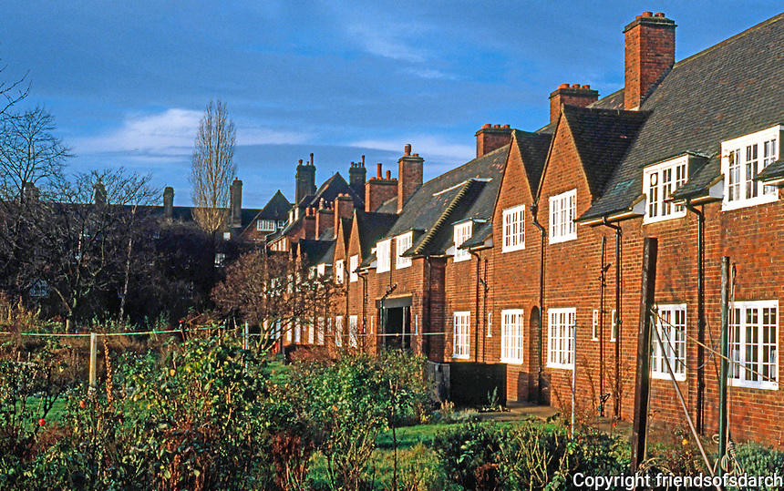 London: Hampstead Garden Suburb--Allotment Gardens.Photo '90.