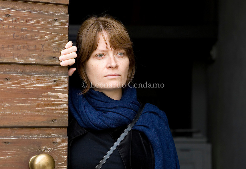 Mantova, Italy, 2007. Elisa Biagini, Florentine poetess. She teaches creative writing (poetry) in Italy and overseas.