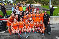 Midlands celebrate. Midlands v Auckland 3rd place game. National Hockey League Finals Day action, National Hockey Stadium, Wellington, New Zealand. Sunday 23 September 2018. Photo: Simon Watts/www.bwmedia.co.nz/Hockey NZ