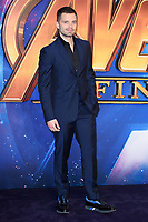 "Sebastian Stan<br /> arriving for the ""Avengers: Infinity War"" fan event at the London Television Studios, London<br /> <br /> ©Ash Knotek  D3393  08/04/2018"