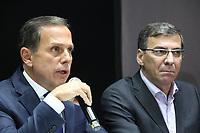 SÃO PAULO, SP, 13.02.2019: SEGURANÇA-SP: João Doria (Governador) e Coronel Nivaldo Restivo (Administração Penitenciária), participam de coletiva de imprensa sobre transferência de presos, nesta quarta-feira, 13. (Foto: Charles Sholl/Brazil Photo Press)