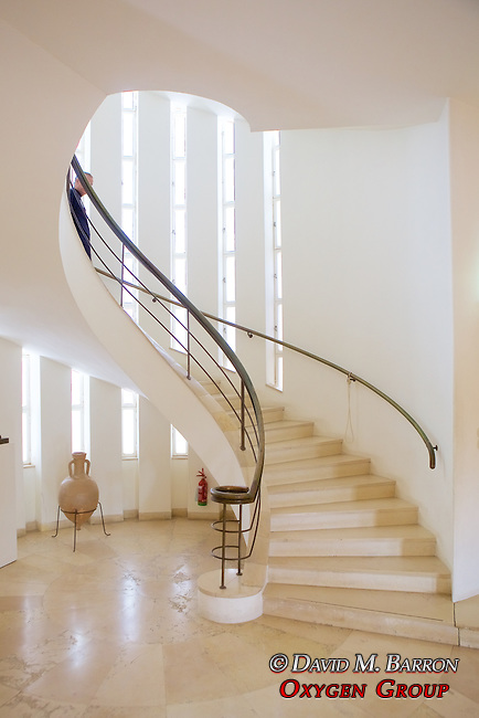 Staircase in Chiam & Vera Weizmann's Home