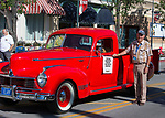 Bob Marshall with his 1946 Hudson pickup truck during the Hot August Nights Parade in downtown Reno on Sunday, August 13, 2017.