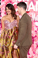 "LOS ANGELES - FEB 11:  Priyanka Chopra, Nick Jonas at the ""Isn't It Romantic"" World Premiere at the Theatre at Ace Hotel on February 11, 2019 in Los Angeles, CA"