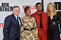 "LOS ANGELES, USA. June 04, 2019: Ted Sarandos, Nicole Avant, Chadwick Boseman & Laura Dern at the premiere for ""The Black Godfather"" at Paramount Theatre.<br /> Picture: Paul Smith/Featureflash"