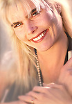 After publication in the Los Angeles Times this was blurred in photoshop. Mariel Hemmingway celebrity portrait.