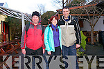 Tony Mulligan with Eileen and Alan O'Brien enjoying the Dingle Walking Festival over the weekend.