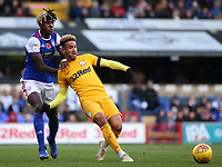Ipswich Town's Trevoh Chalobah battles with Preston North End's Callum Robinson<br /> <br /> Photographer David Shipman/CameraSport<br /> <br /> The EFL Sky Bet Championship - Ipswich Town v Preston North End - Saturday 3rd November 2018 - Portman Road - Ipswich<br /> <br /> World Copyright &copy; 2018 CameraSport. All rights reserved. 43 Linden Ave. Countesthorpe. Leicester. England. LE8 5PG - Tel: +44 (0) 116 277 4147 - admin@camerasport.com - www.camerasport.com