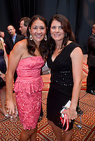 Tiffany Roberts Sahaydak, Mia Hamm. US Soccer held their Centennial Gala at the National Building Museum in Washington DC.