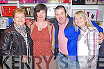 Pictured at the CH Chemist Open Evening on Friday, from left: Nora Dillon (Ballybunion), Kay Griffin (Glenbeigh), Kevin Griffin (Glenbeigh) and Lorraine Dillon (Ballybunion).