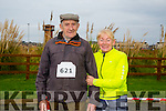 Enjoying the Santa 5km run in memory of Fiona Moore in aid of Heart Children Ireland at the Tralee Wetlands were Michael O'Sullivan who is 88yrs old and is doing the Santa Run for the third time with Catriona O'Sullivan.