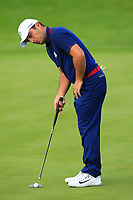 Francesco Molinari (Team Europe) on the 7th during Friday Fourball at the Ryder Cup, Le Golf National, Iles-de-France, France. 28/09/2018.<br /> Picture Thos Caffrey / Golffile.ie<br /> <br /> All photo usage must carry mandatory copyright credit (© Golffile | Thos Caffrey)