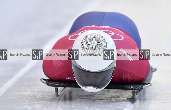 Dorin Velicu (ROU). Skeleton training. Alpensia sliding centrePyeongchang2018 winter Olympics. Alpensia. Republic of Korea. 13/02/2018. ~ MANDATORY CREDIT Garry Bowden/SIPPA - NO UNAUTHORISED USE - +44 7837 394578