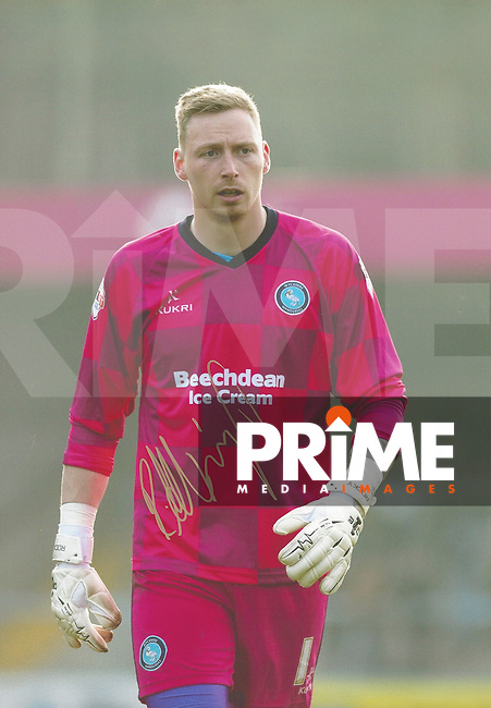 Ryan Allsop of Wycombe Wanderers Signed Photos at Adams Park, High Wycombe, England on 29 April 2016. Photo by Andy Rowland.