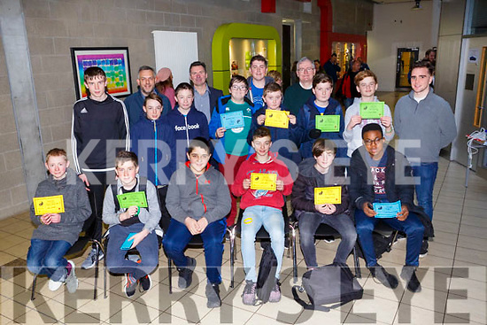 On Saturday IT Tralee Coder Dojo Awards were presented to the different categories and pictured here are the 13-18 category and included in picture are Dr Oliver Murphy (President IT Tralee), Sean ryan (CEO Aspen Solutions) and John Walsh (Dept of Computing ITT).
