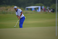 Hideki Matsuyama (JPN) watches his putt on 1 during round 4 of the AT&T Byron Nelson, Trinity Forest Golf Club, at Dallas, Texas, USA. 5/20/2018.<br /> Picture: Golffile | Ken Murray<br /> <br /> All photo usage must carry mandatory copyright credit (© Golffile | Ken Murray)