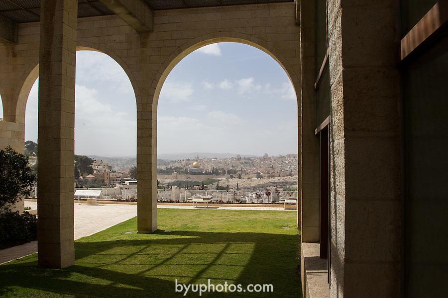 1203-57 0284.CR2<br /> <br /> BYU Jerusalem Center exterior and  Old Jerusalem <br /> <br /> March 12-23, 2012<br /> <br /> Photography by Mark A. Philbrick<br /> <br /> Copyright BYU Photo 2012<br /> All Rights Reserved<br /> photo@byu.edu  (801)422-7322