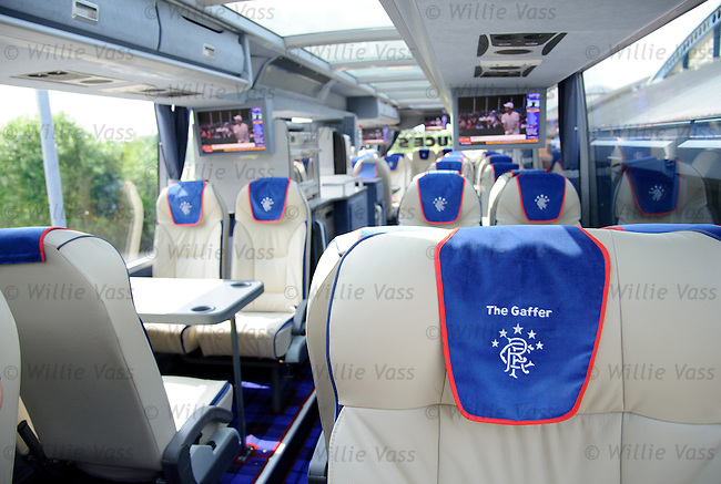 The new Rangers team bus - The Gaffer's seat