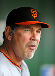 1 May 2011: San Francisco Giants Manager Bruce Bochy watches his team take on the Washington Nationals at Nationals Park in Washington, District of Columbia. The Nationals defeated the Giants 5-2. Mandatory Credit: Ed Wolfstein Photo