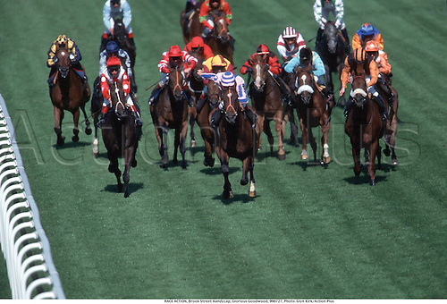 RACE ACTION, Brook Street Handycap, Glorious Goodwood, 990727, Photo: Glyn Kirk/Action Plus...1999.Horse racing.horses.equestrian.flat .equestrian sports