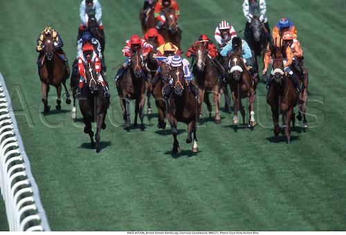 RACE ACTION, Brook Street Handycap, Glorious Goodwood, 990727, Photo: Glyn Kirk/Action Plus...1999.Horse racing.horses.equestrian.flat .equestrian sports