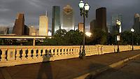 Self portrait on the Sabine Bridge in Houston, Texas in 2013.