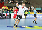 20.01.2013 Barcelona, Spain. IHF men's world championship, eighth.final. Picture show Martin Strobel in action during game between Germany  vs FYRO Macedonia at Palau st Jordi