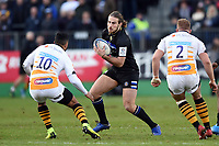 Max Clark of Bath Rugby in possession. Heineken Champions Cup match, between Bath Rugby and Wasps on January 12, 2019 at the Recreation Ground in Bath, England. Photo by: Patrick Khachfe / Onside Images