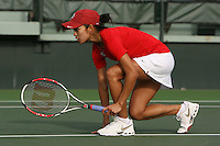 STANFORD, CA - FEBRUARY 10:  Hilary Barte of the Stanford Cardinal during Stanford's match against the Cal Poly Mustangs on February 10, 2009 at the Taube Family Tennis Stadium in Stanford, California.