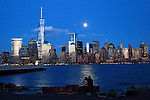 FEATURES-Full Moon rises over New York City
