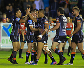 8th September 2017, The Mend-A-Hose Jungle, Castleford, England; Betfred Super League, Super 8s; Castleford Tigers versus Leeds Rhinos; Ben Roberts of Castleford Tigers  celebrates with his team mates after scoring a try
