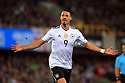 Germany's Sandro Wagner celebrates after scoring the second goal against N. Ireland during the FIFA World Cup 2018 Qualifying Group C qualifying soccer match between Northern Ireland and Germany at the National Football Stadium at Windsor Park, Belfast, Northern Ireland, 5 Oct 2017. Photo/Paul McErlane