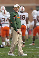 Miami Coach Larry Coker