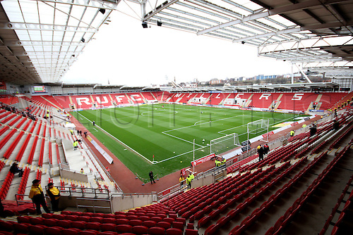 02.04.2016. New York Stadium, Rotherham England.  Sky Bet Championship Rotherham versus Leeds United. The New York Stadium pre game
