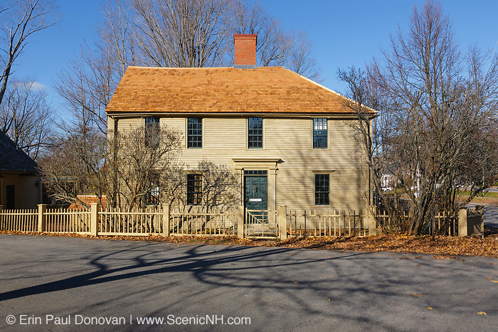 Emerson-Wilcox House during the autumn months....located in York, Maine USA which is part of scenic New England