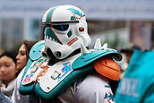 1st October 2017, Wembley Stadium, London, England; NFL International Series, Game Two; Miami Dolphins versus New Orleans Saints; A Miami Dolphins fan dressed up as a storm trooper