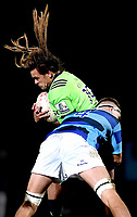 Dan Pryor of the Highlanders during the rugby match between the Highlanders and the French Barbarians at Rugby Park in Invercargill, New Zealand on Friday, 22 June 2018. Copyright Image: Joe Allison / lintottphoto.co.nz