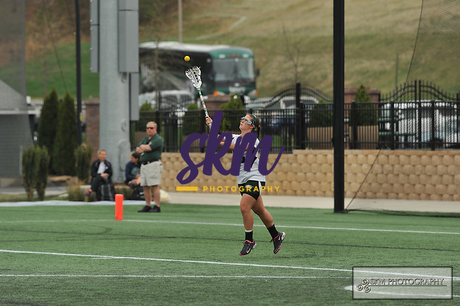 Mustang women's lacrosse improved to 12-1 by defeating Messiah College 13-8 Wednesday afternoon at Mustang Stadium in Owings Mills.